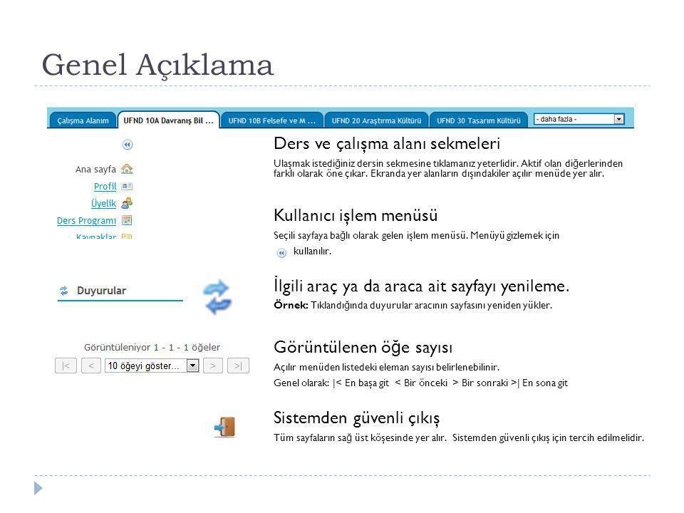 Sisteme Giriş Yaşar Üniversitesi Kurumsal Temel Dersler (UFND) için Uzaktan E ğ itim Ortamına http://e.yasar.edu.tr Adresinden giriş yapabilirsiniz.