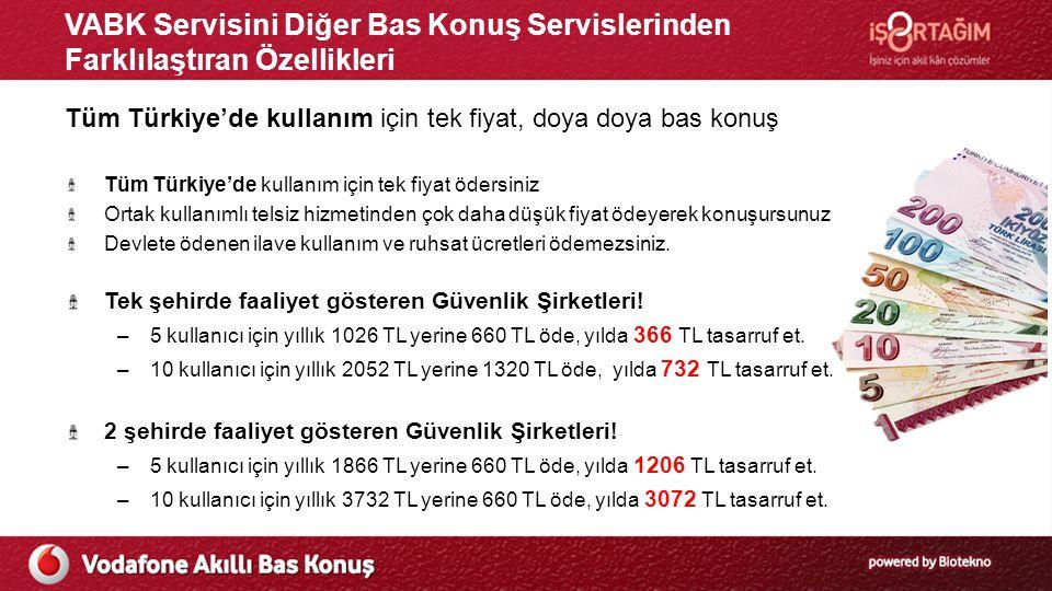 VABK Servisini Diğer Bas Konuş Servislerinden Farklılaştıran Özellikleri Tüm Türkiye'de kullanım için tek fiyat, doya doya bas konuş Tüm Türkiye'de ku