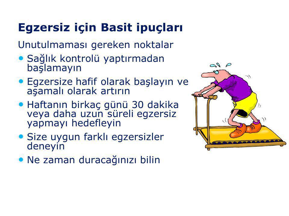 Egzersizin pek çok yararı vardır • Kilo vermeye yardımcı olur • Kan dolaşımını düzeltir • Özgüveni artırır • Kasları geliştirir • Kalbinizi güçlendiri