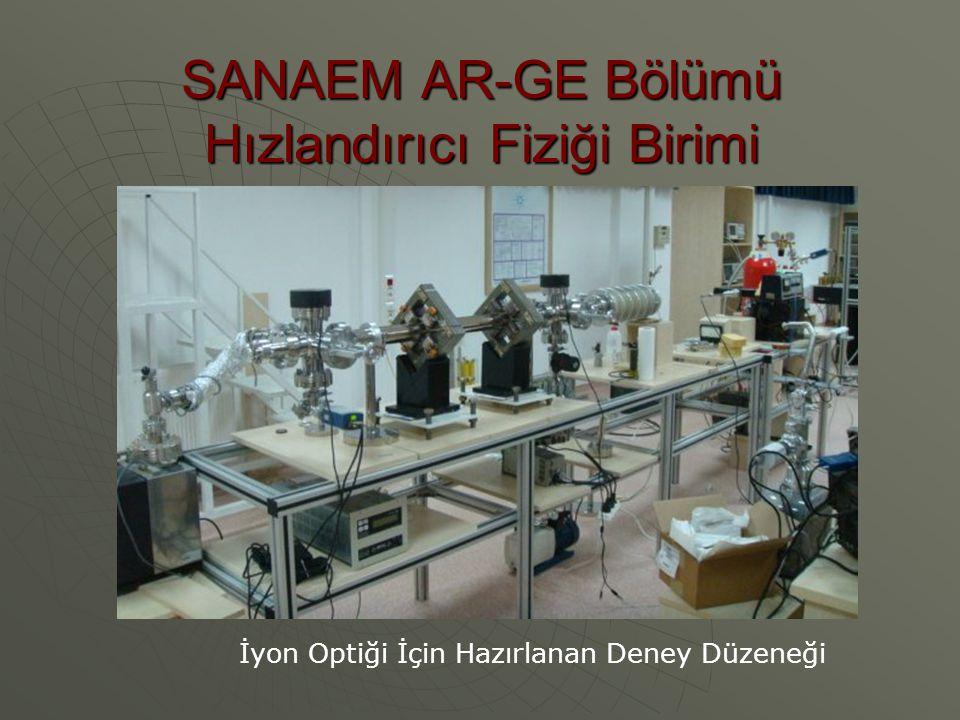 SANAEM AR-GE Bölümü Hızlandırıcı Fiziği Birimi İyon Optiği İçin Hazırlanan Deney Düzeneği