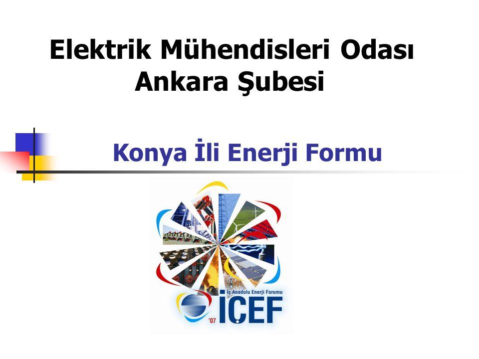Elektrik Mühendisleri Odası Ankara Şubesi Konya İli Enerji Formu