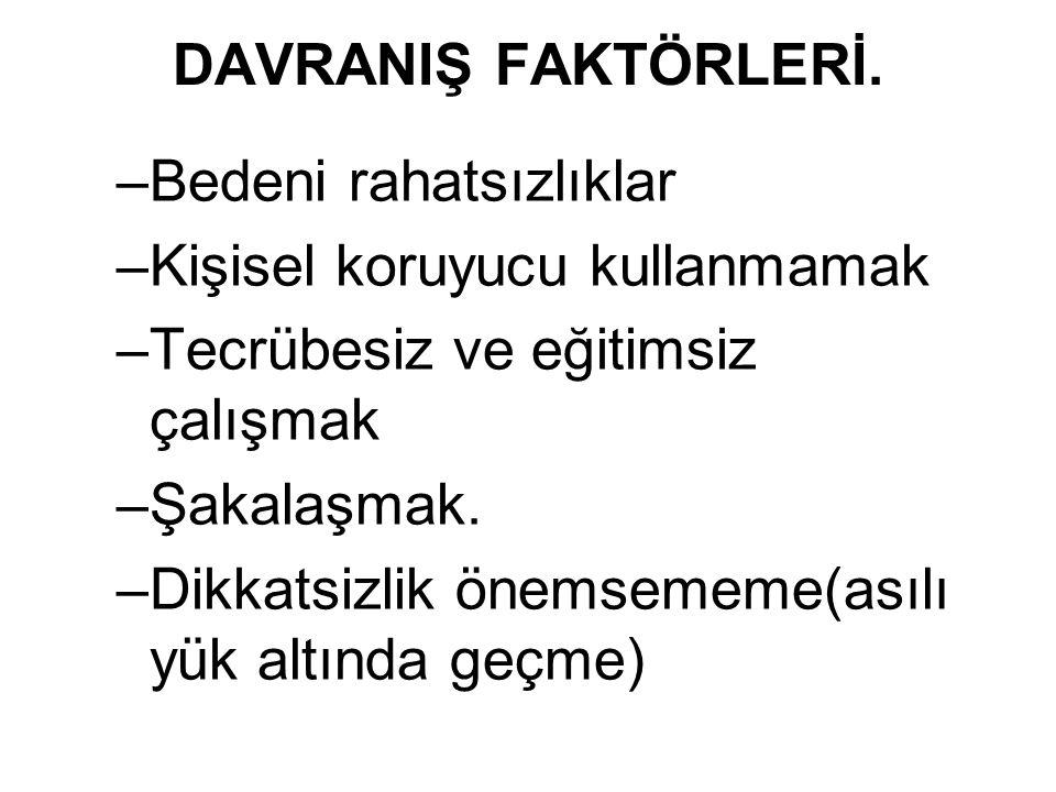 DAVRANIŞ FAKTÖRLERİ.