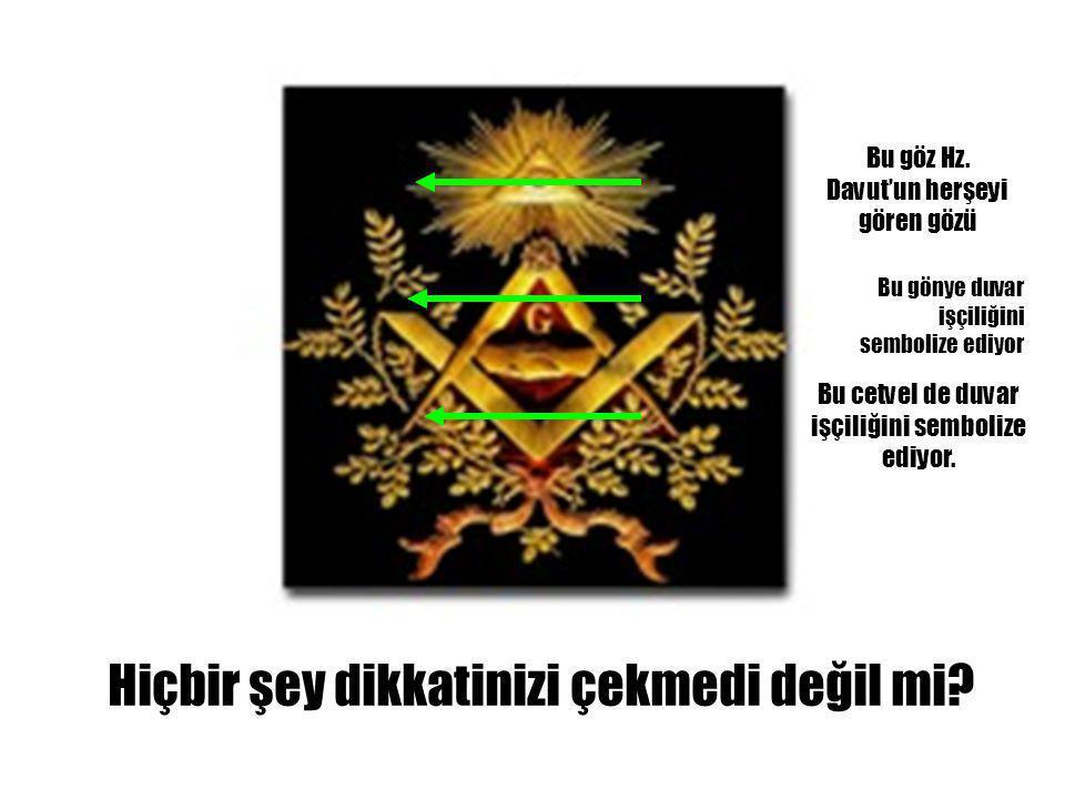 Tarihçelerini incelemeden önce ekrandaki sembole bakın. Bu sembol masonların sembolüdür.
