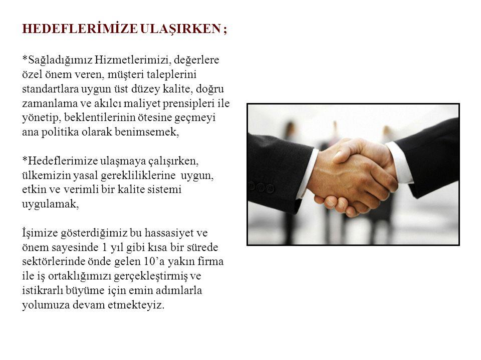 Personel ve Öğrenci taşımacılığı faaliyeti sürdürülürken * VIP taşımacılık, * Transfer & Organizasyon ve 2010 yılında altyapısı tamamlanan; * Filo Araç Kiralama alanında da faaliyet gösterilmeye başlanmış Türkiye de sektöründe öncü firmalara hizmet vermeye başlamıştır.