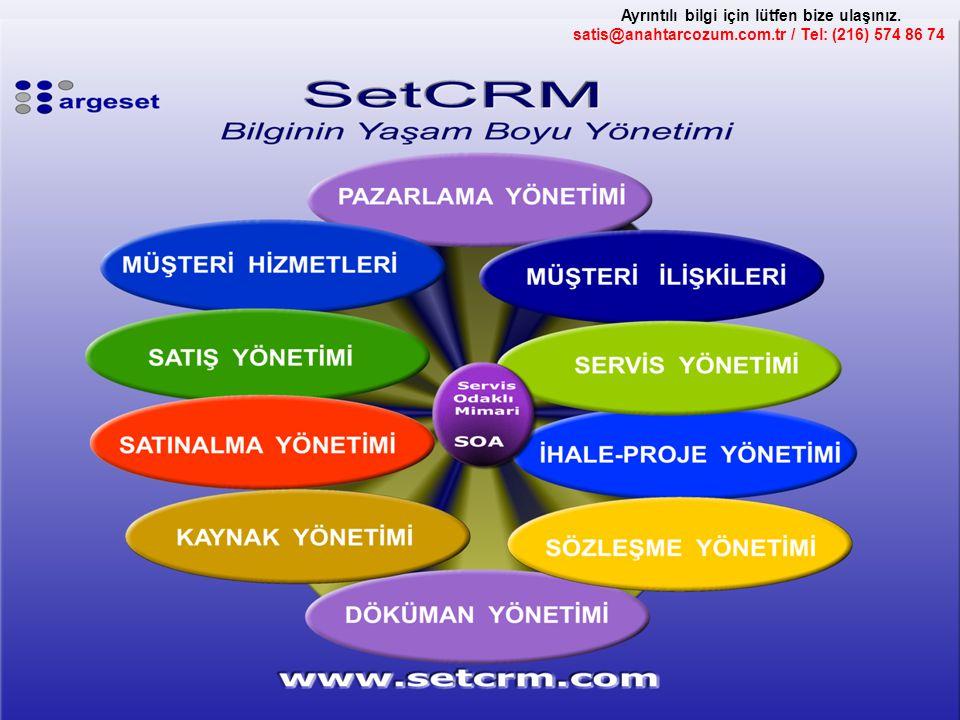Ayrıntılı bilgi için lütfen bize ulaşınız. satis@anahtarcozum.com.tr / Tel: (216) 574 86 74