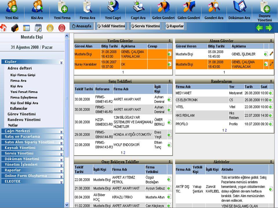 SETCRM TEMEL ÖZELLİKLERİ Şirketteki tüm elektronik dokümanları tek noktadan yönetir.