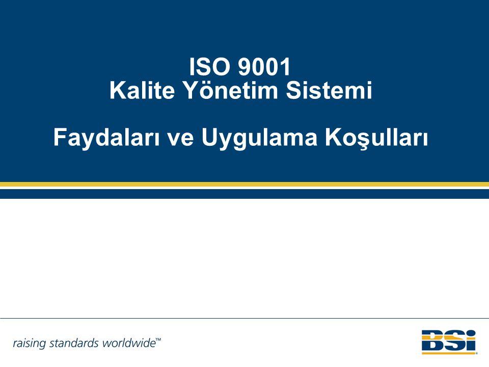 Sürekli İyileştirme 3.2.13 Sürekli iyileştirme: (ISO 9000:2005 standardından alıntı) Şartların (Madde 3.1.2) yerine getirilmesi yeteneğinin artırılması için tekrar edilen faaliyet.