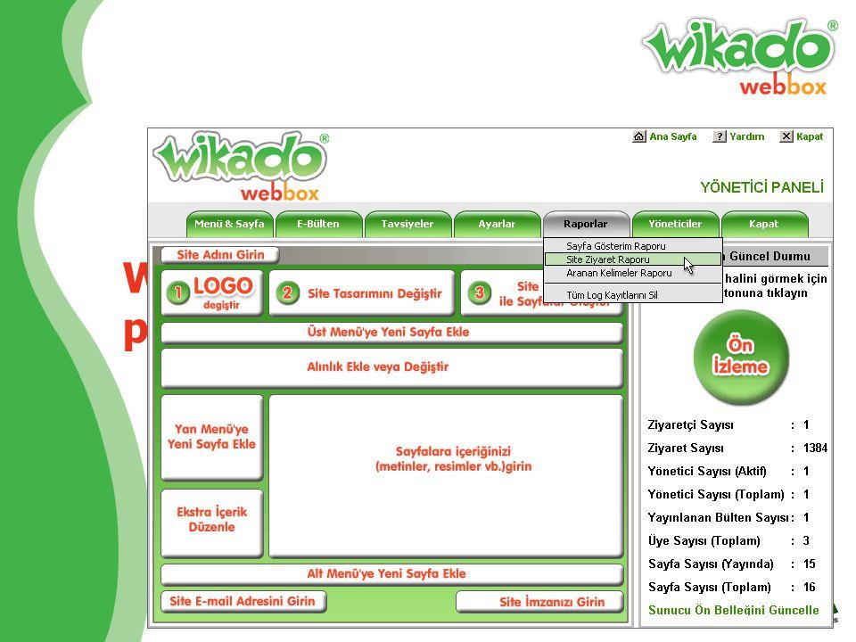 Wikado'da her şey Internet üzerinde ve gerçek zamanlı çalışır Wikado'da tek ihtiyacınız bir Internet bağlantısıdır. Bilgisayarınıza kurmanız gereken p