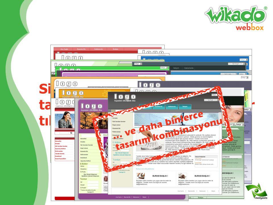 Web sitenizi Wikado'nun yönetim panelinden yönetin