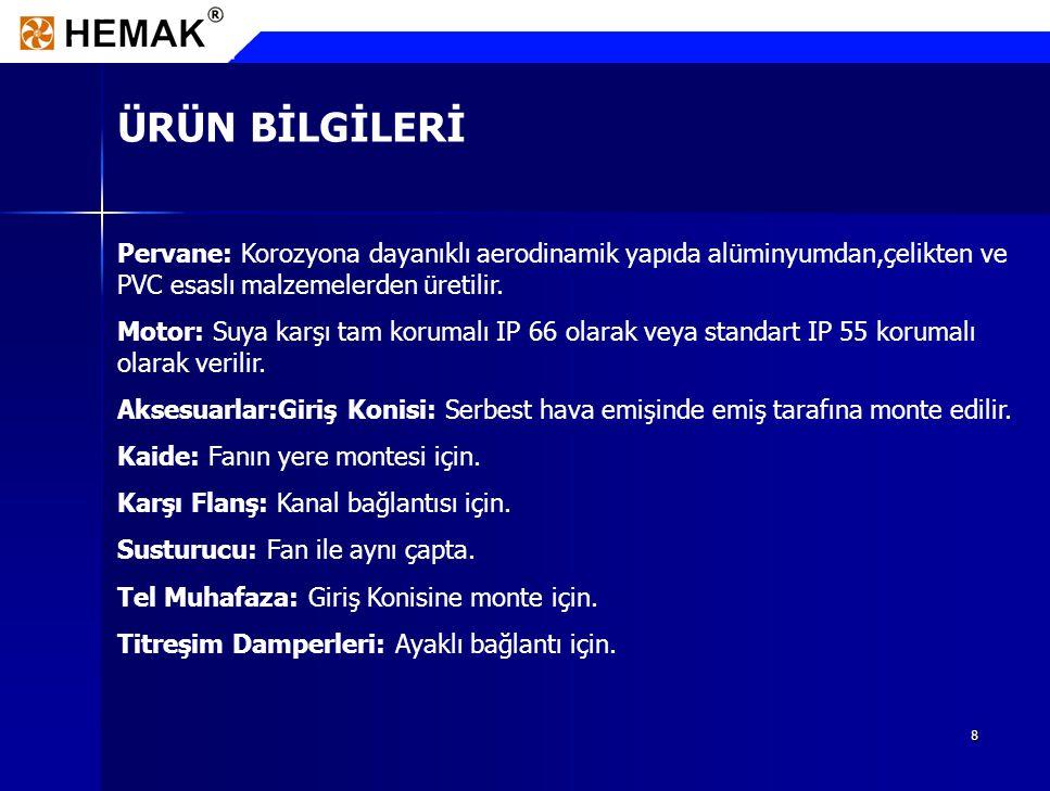 9 REFERANSLAR PENDİK TERSANESİ Arabalı Vapur Aksiyal Fanları 24 Ad.
