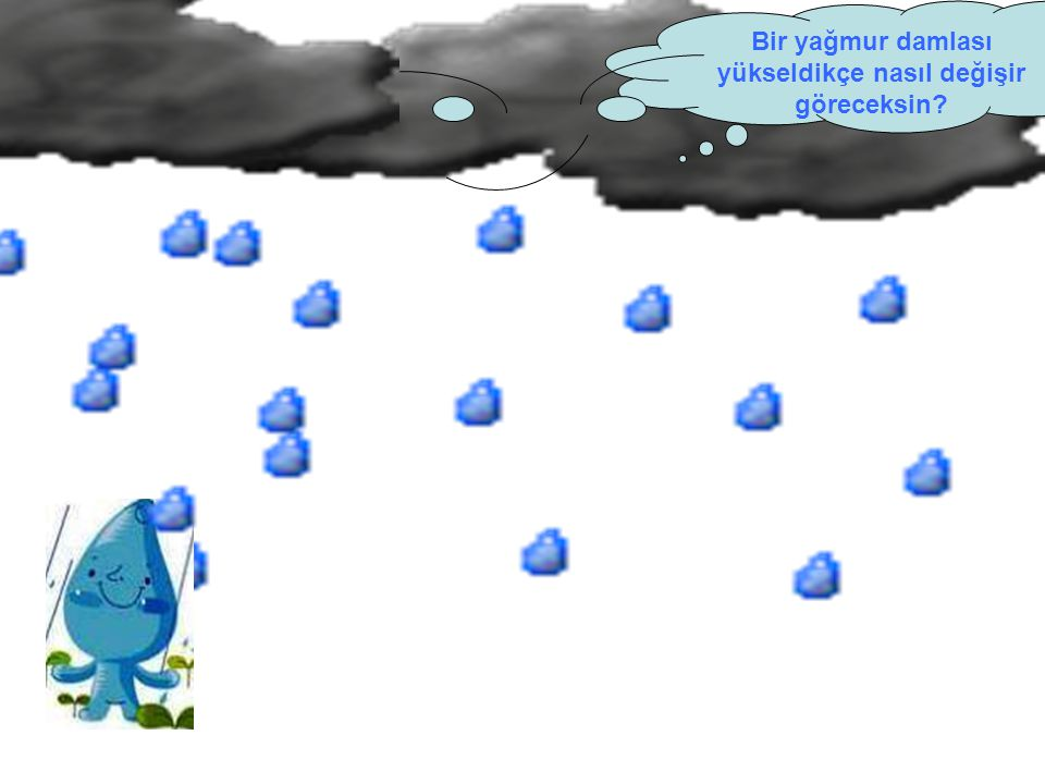 Bir yağmur damlası yükseldikçe nasıl değişir göreceksin?