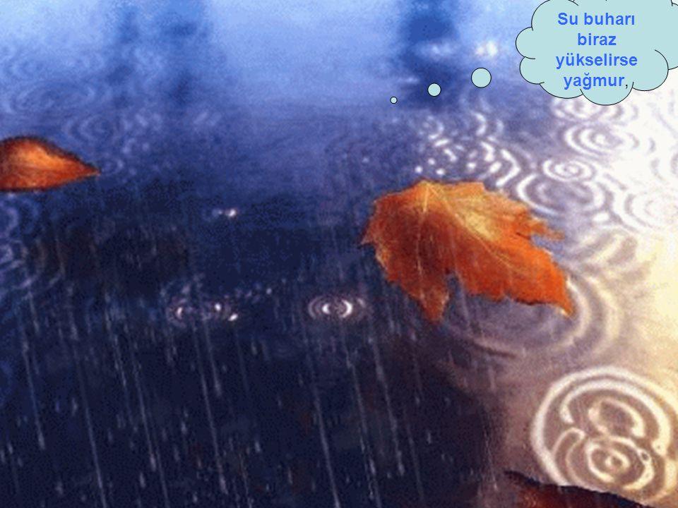Su buharı biraz yükselirse yağmur,