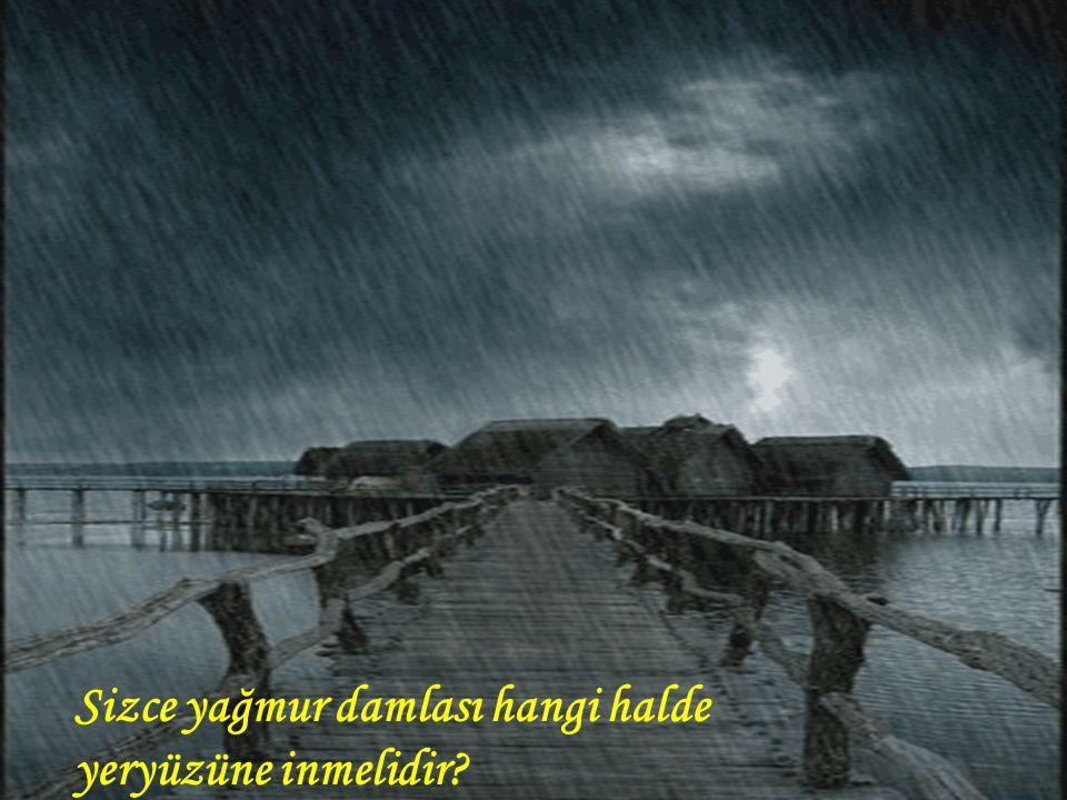 Sizce yağmur damlası hangi halde yeryüzüne inmelidir?