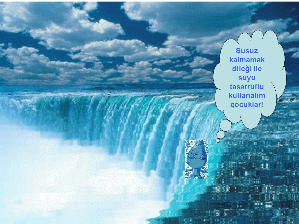 Susuz kalmamak dileği ile suyu tasarruflu kullanalım çocuklar!