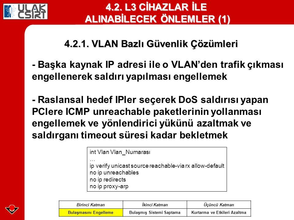 4.2.L3 CİHAZLAR İLE ALINABİLECEK ÖNLEMLER (1) 4.2.1.
