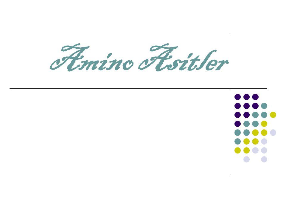 Sıklıkla karşılaşılan amino asitler için kısaltma ve semboller  Her amino asit ismi bir tane üç- harfli kısaltma ve bir tane de tek harfli sembol vardır.