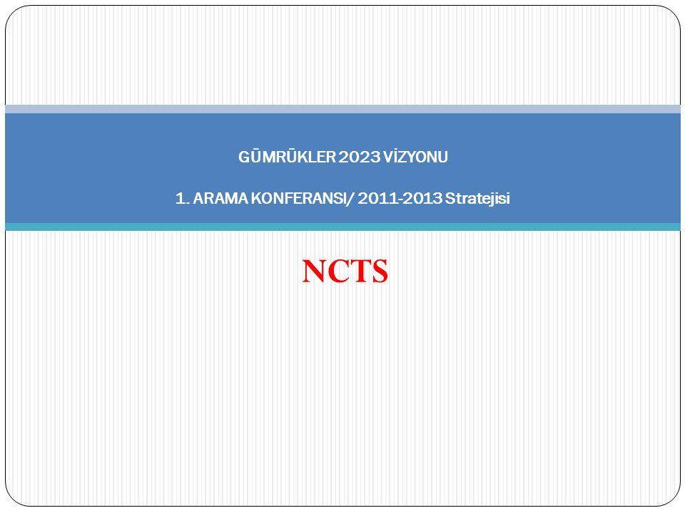 GÜMRÜKLER 2023 VİZYONU 1. ARAMA KONFERANSI/ 2011-2013 Stratejisi NCTS