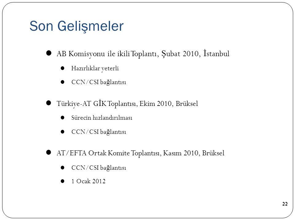  NCTS Yazılımının B İ LGE Sistemine Entegrasyonu Projesi - 18 ay  Ocak 2009 – Kasım 2010  Yazılım  Ulusal uyumluluk testleri  Uluslararası uyumlu