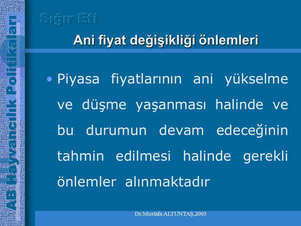 Dr.Mustafa ALTUNTAŞ,2003 •Havan hastalıklarından korunmak için alınan önlemler nedeniyle serbest dolaşım açısından kısıtlamalara dayalı problemler yaş