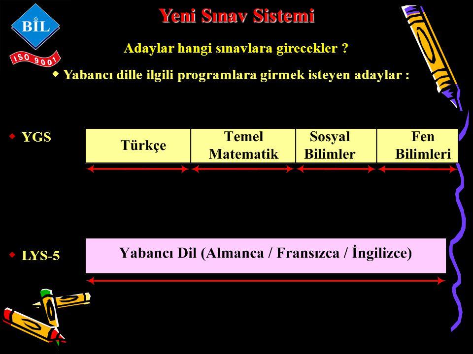 Yeni Sınav Sistemi Adaylar hangi sınavlara girecekler .