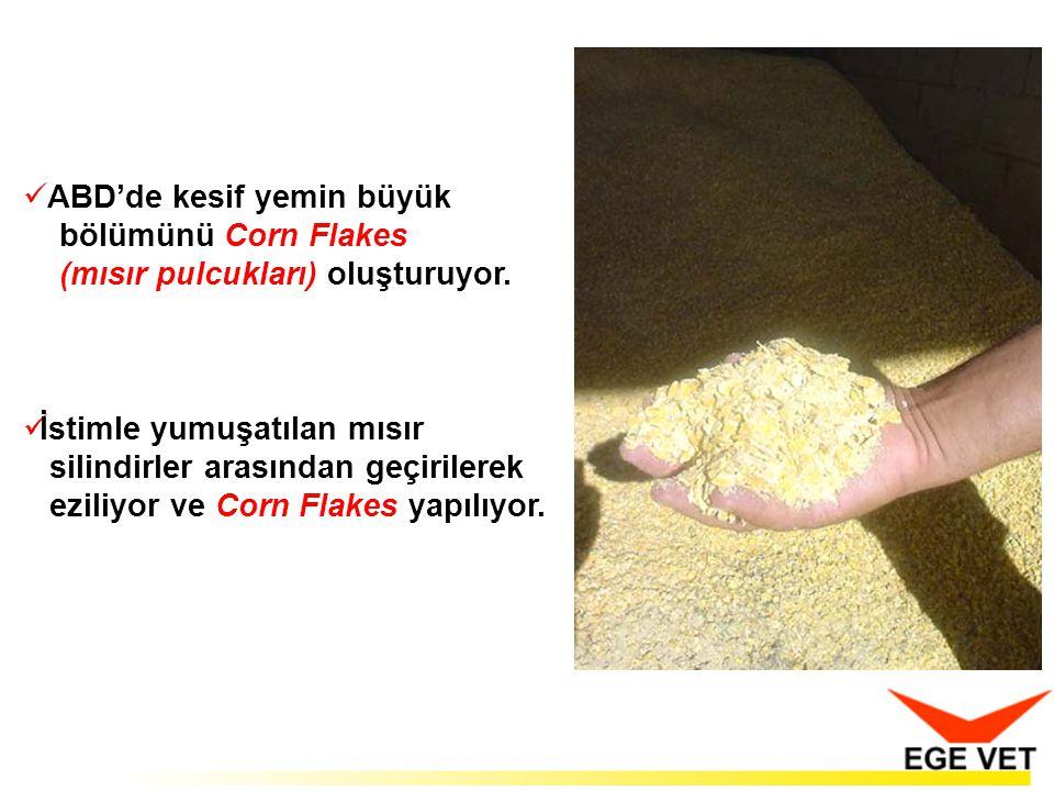  ABD'de kesif yemin büyük bölümünü Corn Flakes (mısır pulcukları) oluşturuyor.