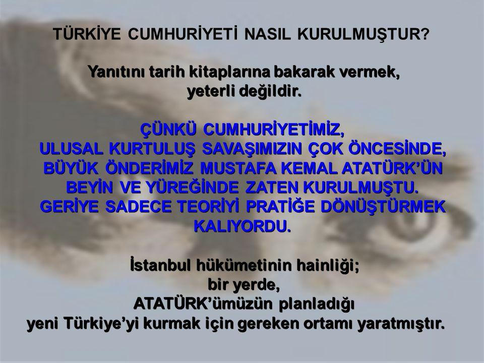 DEMOKRATİK, LAİK ATATÜRK CUMHURİYETİ, TÜRK ULUSU'NUN OMURİLİĞİDİR...