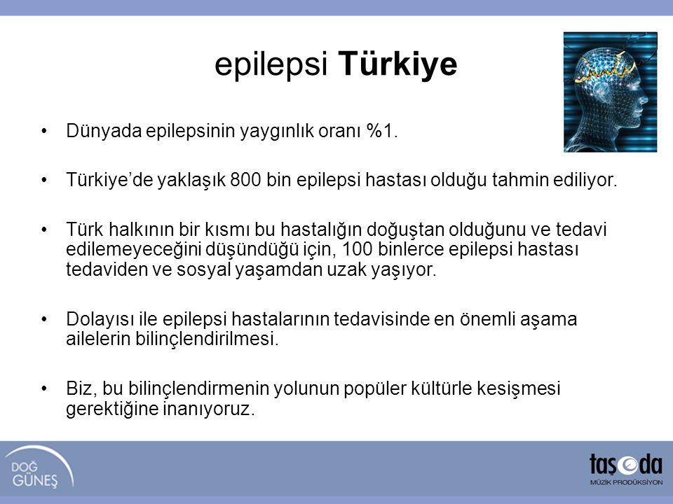 •Dünyada epilepsinin yaygınlık oranı %1. •Türkiye'de yaklaşık 800 bin epilepsi hastası olduğu tahmin ediliyor. •Türk halkının bir kısmı bu hastalığın