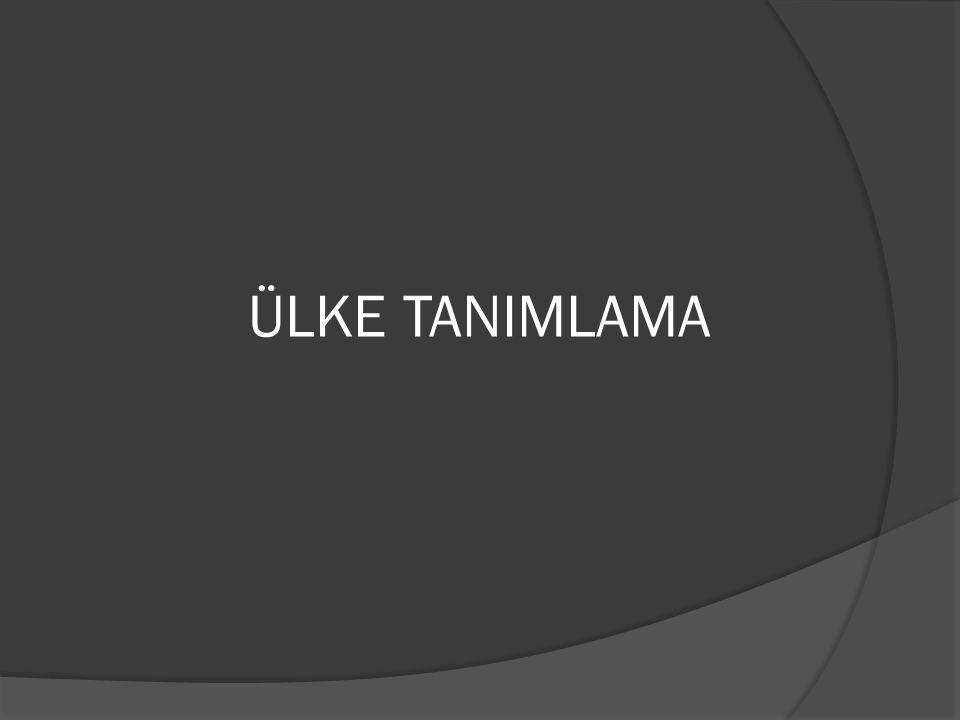 BÖLGE TANIMLAMALARI