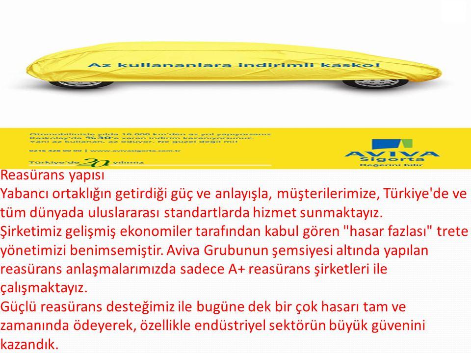 Reasürans yapısı Yabancı ortaklığın getirdiği güç ve anlayışla, müşterilerimize, Türkiye'de ve tüm dünyada uluslararası standartlarda hizmet sunmaktay
