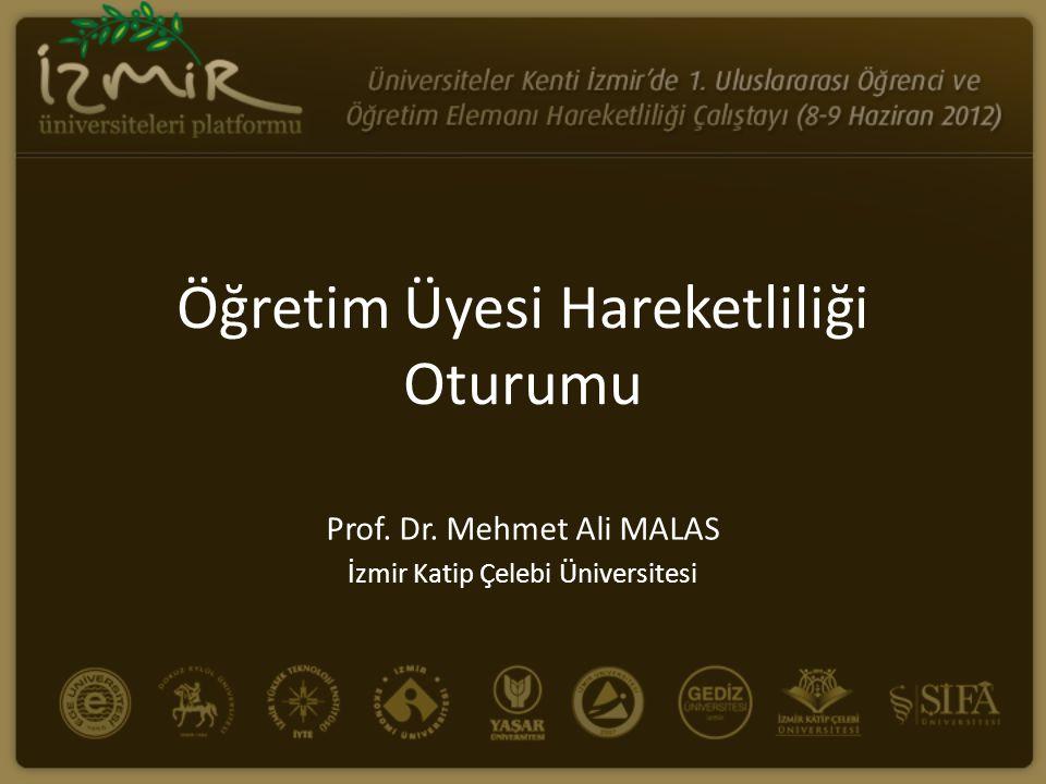 KATILIMCILARÜNİVERSİTE 1.Prof.Dr. Ali Malasİzmir Katip Çelebi 2.Doç.