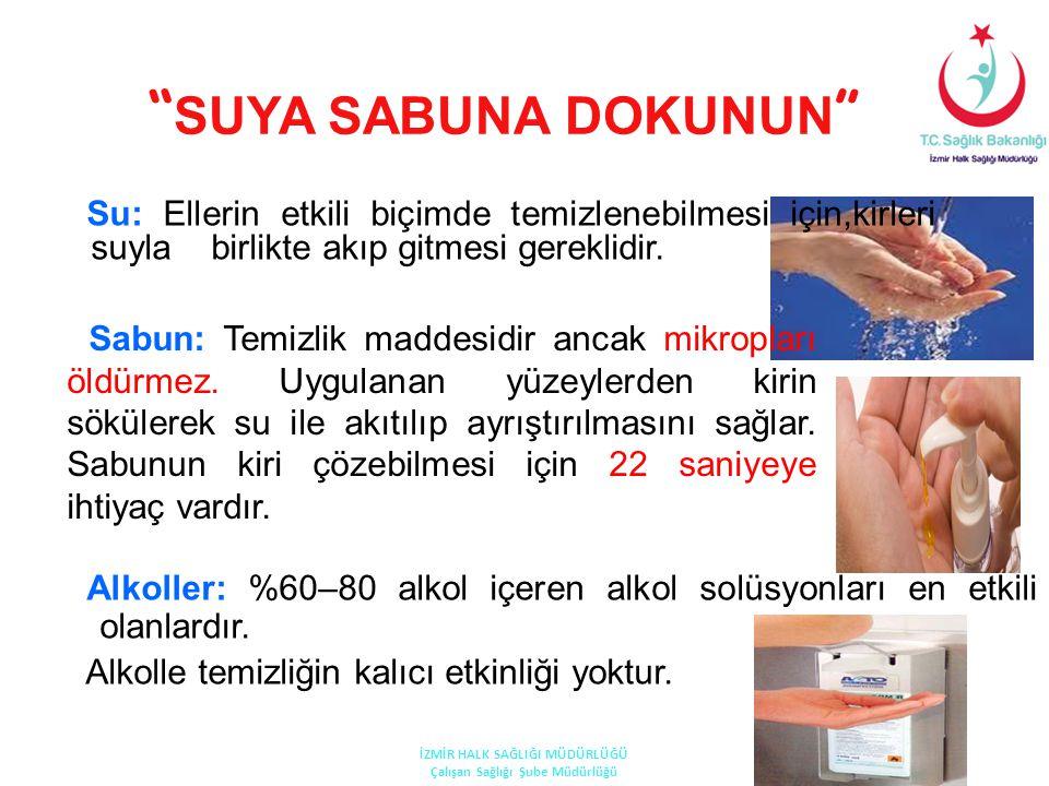 """"""" SUYA SABUNA DOKUNUN """" Su: Ellerin etkili biçimde temizlenebilmesi için,kirleri suyla birlikte akıp gitmesi gereklidir. Sabun: Temizlik maddesidir an"""