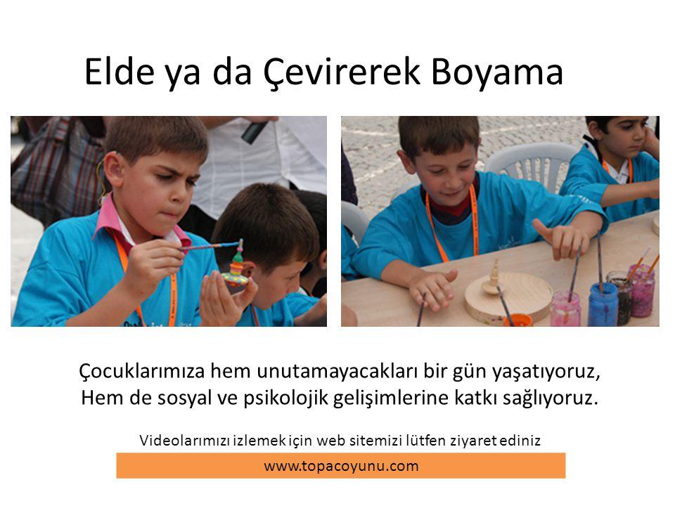 Elde ya da Çevirerek Boyama Çocuklarımıza hem unutamayacakları bir gün yaşatıyoruz, Hem de sosyal ve psikolojik gelişimlerine katkı sağlıyoruz. www.to