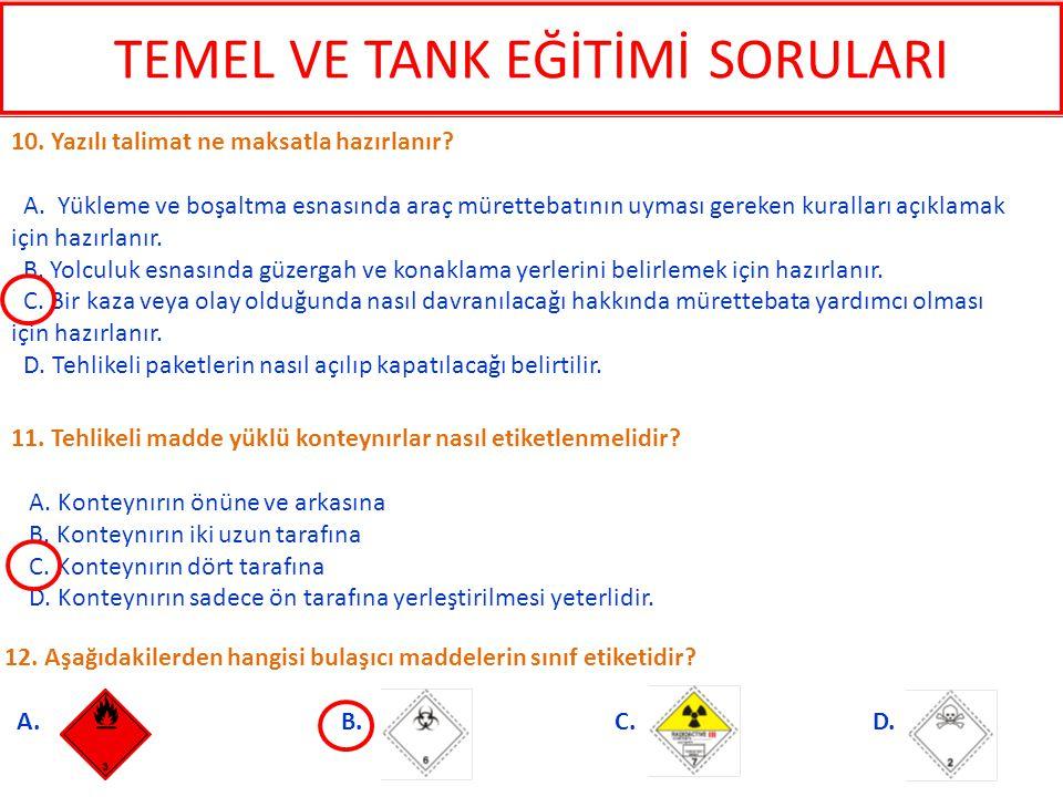 12.Aşağıdakilerden hangisi bulaşıcı maddelerin sınıf etiketidir.