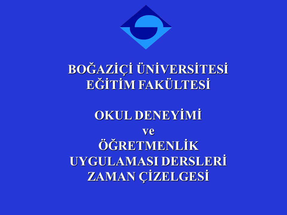 Okul Deneyimi ve Öğretmenlik Uygulaması Dersleri için İstanbul Valiliği İl Milli Eğitim Müdürlüğü Onay Süreci