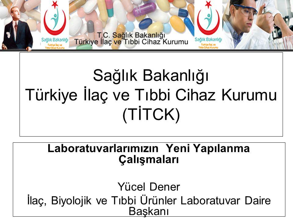 Sağlık Bakanlığı Türkiye İlaç ve Tıbbi Cihaz Kurumu (TİTCK) Laboratuvarlarımızın Yeni Yapılanma Çalışmaları Yücel Dener İlaç, Biyolojik ve Tıbbi Ürünl