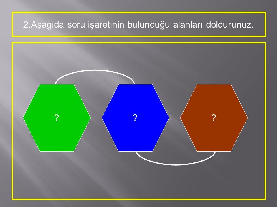 2.Aşağıda soru işaretinin bulunduğu alanları doldurunuz. ???