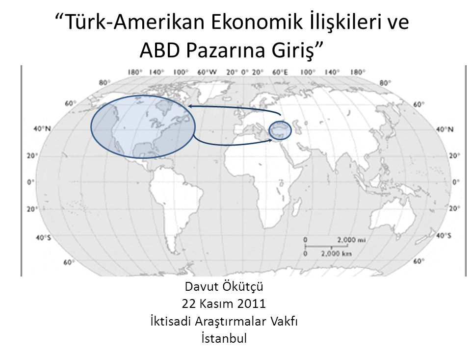 """""""Türk-Amerikan Ekonomik İlişkileri ve ABD Pazarına Giriş"""" Davut Ökütçü 22 Kasım 2011 İktisadi Araştırmalar Vakfı İstanbul"""