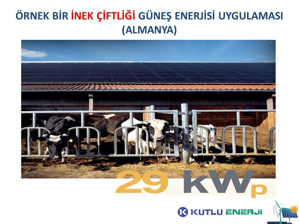 ÖRNEK BİR İNEK ÇİFTLİĞİ GÜNEŞ ENERJİSİ UYGULAMASI (ALMANYA) 28
