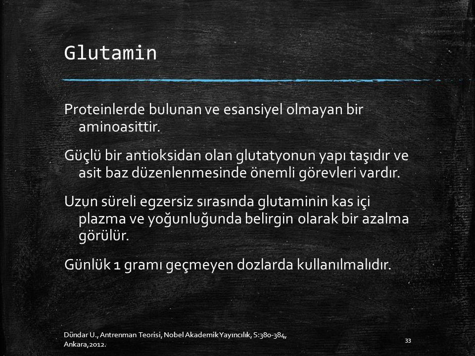 Glutamin Proteinlerde bulunan ve esansiyel olmayan bir aminoasittir.