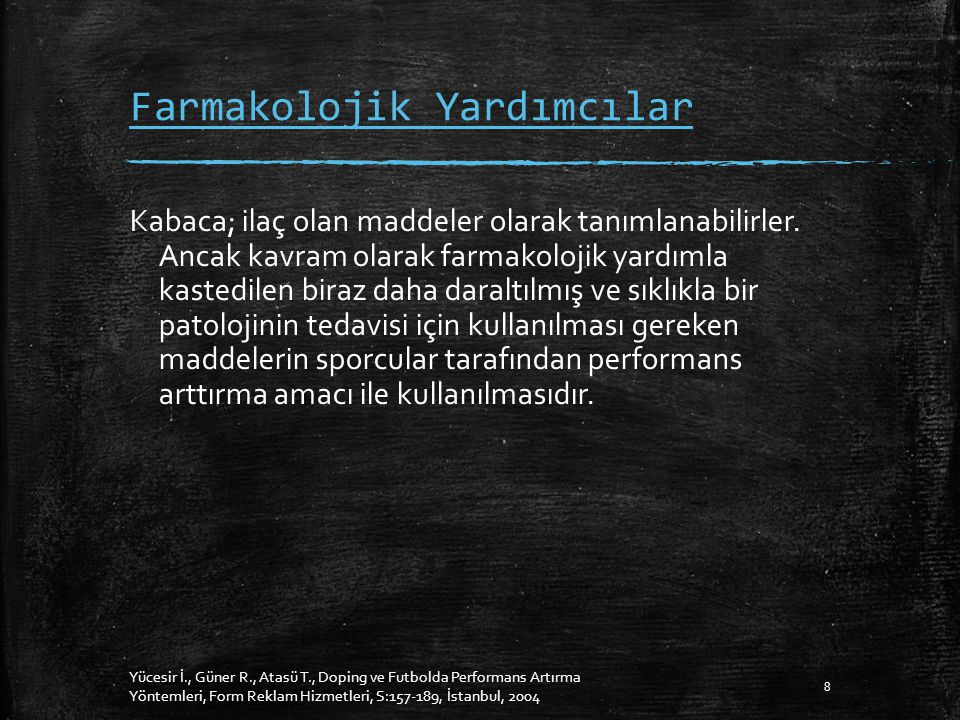 Farmakolojik Yardımcılar Kabaca; ilaç olan maddeler olarak tanımlanabilirler.