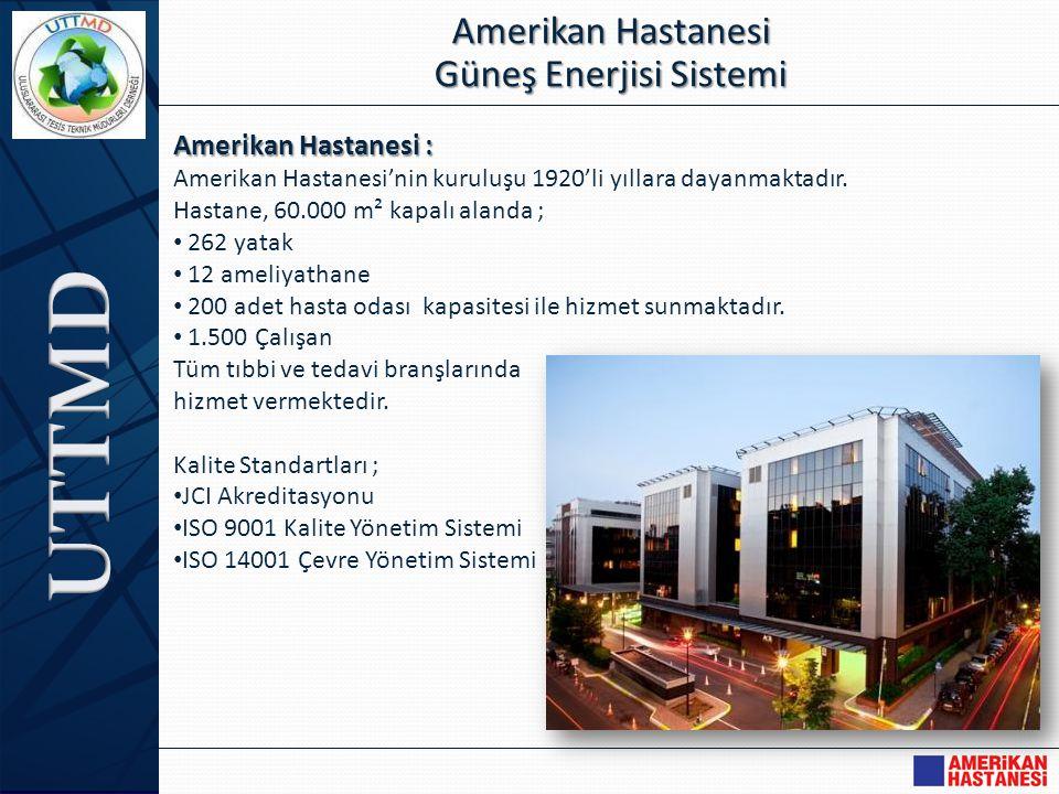 Amerikan Hastanesi : Amerikan Hastanesi'nin kuruluşu 1920'li yıllara dayanmaktadır. Hastane, 60.000 m² kapalı alanda ; • 262 yatak • 12 ameliyathane •