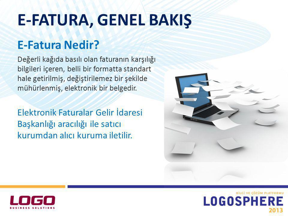 LogoConnect e-Fatura Gönderimi Gönderilen Faturanın Statü Değişimi LOGO ÜRÜNLERİNDE E-FATURA