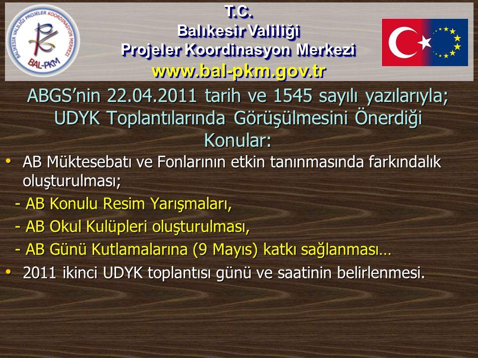 Balıkesir AB-UDYK DİLEK VE TEMENNİLERİ… T.C.