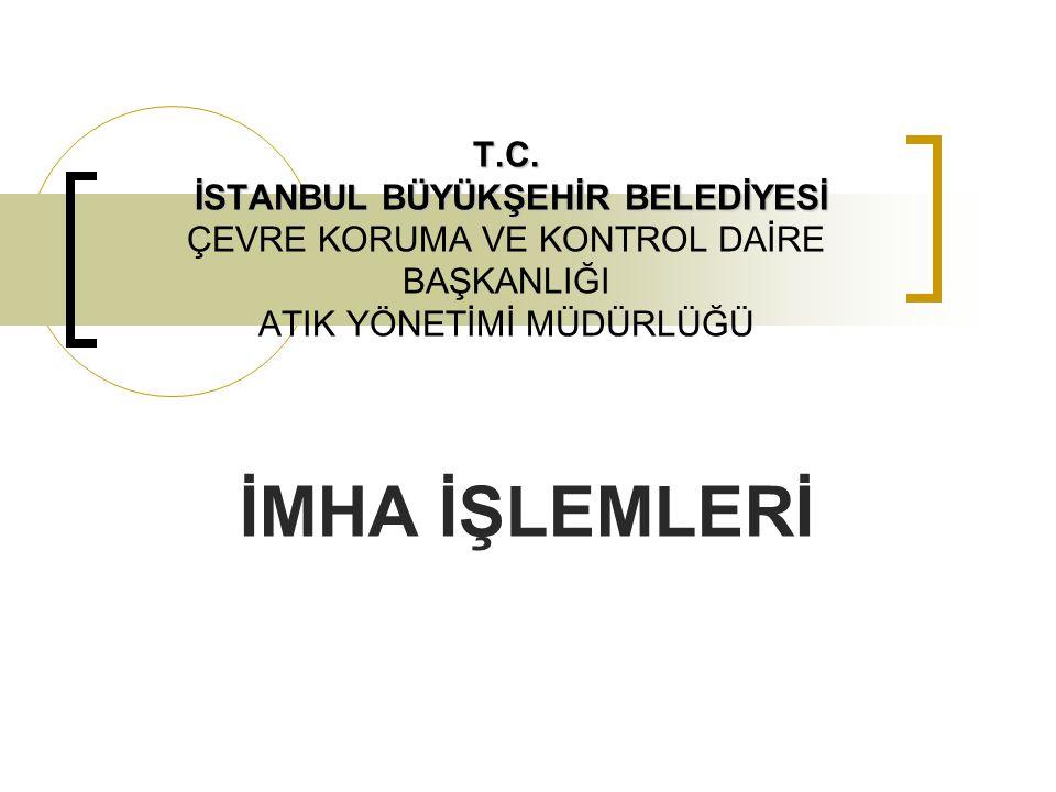 İMHA  İstanbul il sınırları dahilinde kurum, kuruluş, gerçek ve tüzel kişiler tarafından imhası istenen malzemelerin yazılı olarak Müdürlüğümüze iletilmesi ile imha neticesinde tespit ve imha tutanağı düzenlenerek, imhalık malzemelerin imha işlemlerinin yürütülmesi sağlanır.