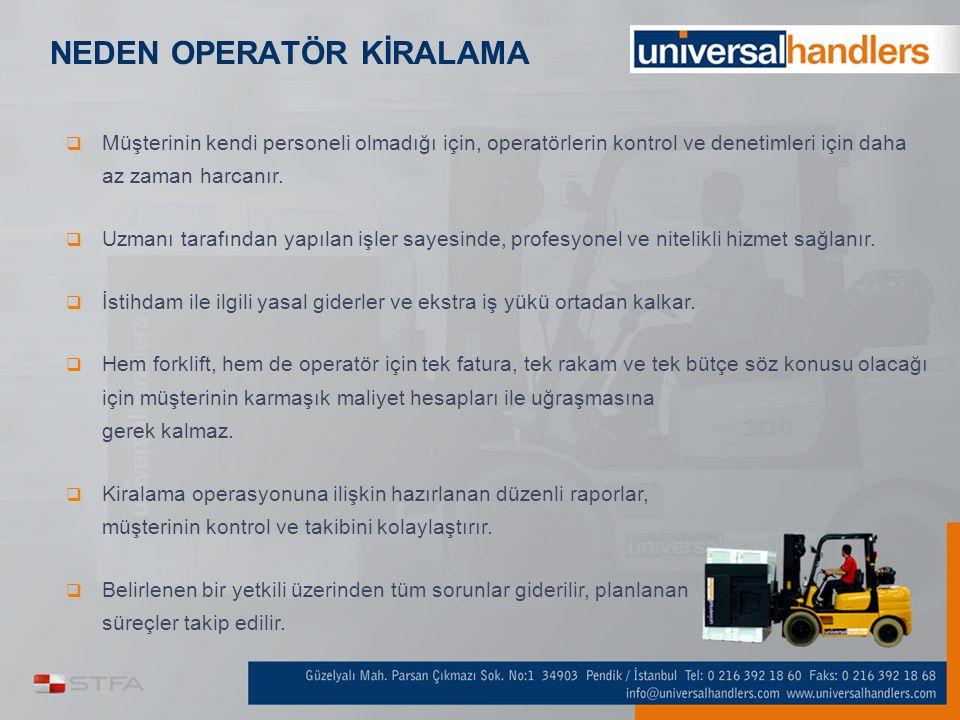 NEDEN UNIVERSAL HANDLERS  Türkiye'mizin tecrübeli ve saygın bir markasıyız,  Güveniliriz,  Sektörün öncüsüyüz, yenilikleri takip eder ve uygularız,  Müşteri odaklı çalışırız,  Kurumsal bir yapıya sahibiz.