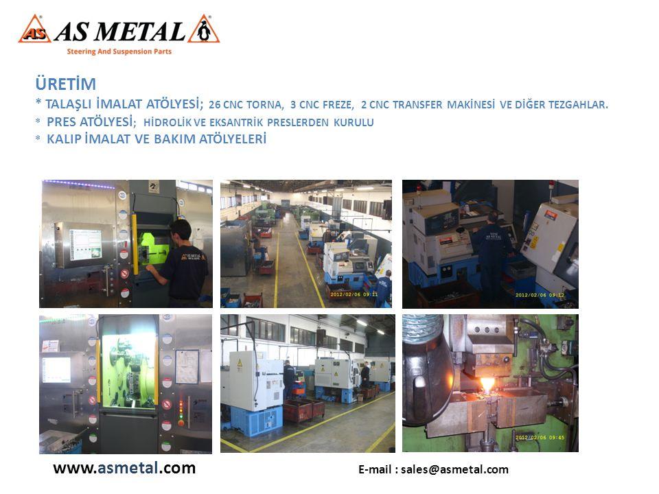 * MONTAJ HATTI; 1 ADET OTOMATİK, 1 ADET MANUEL ÜRETİM HATTI 250.000 ADET/AY KAPASİTE www.asmetal.com E-mail : sales@asmetal.com
