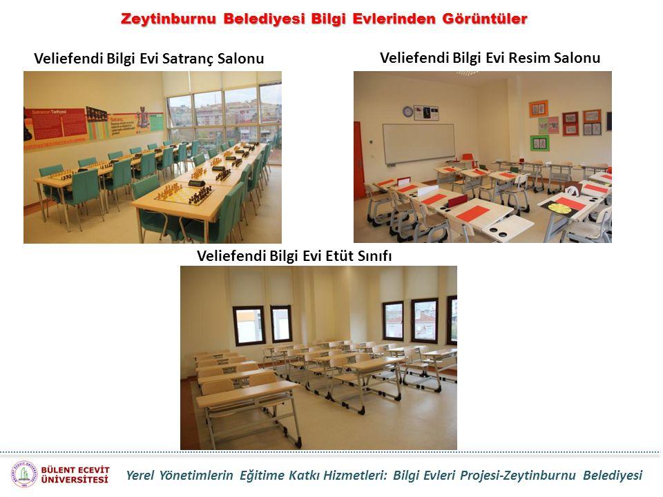 Zeytinburnu Belediyesi Bilgi Evlerinden Görüntüler Veliefendi Bilgi Evi Satranç Salonu Veliefendi Bilgi Evi Etüt Sınıfı Veliefendi Bilgi Evi Resim Sal