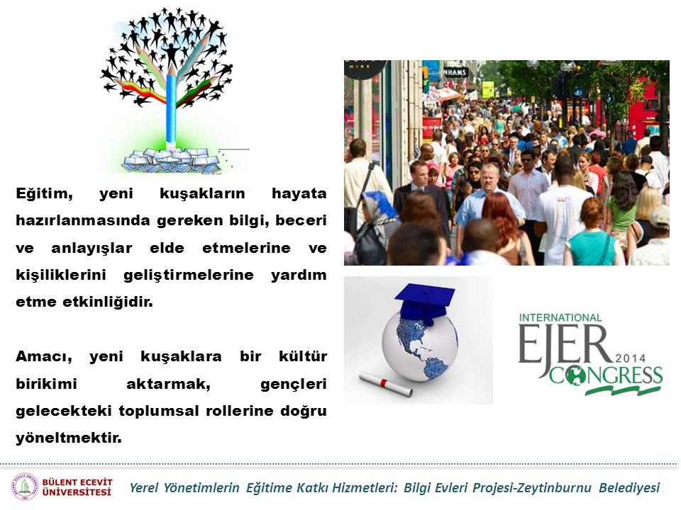 Yerel Yönetimlerin Eğitime Katkı Hizmetleri: Bilgi Evleri Projesi-Zeytinburnu Belediyesi Eğitim, yeni kuşakların hayata hazırlanmasında gereken bilgi,