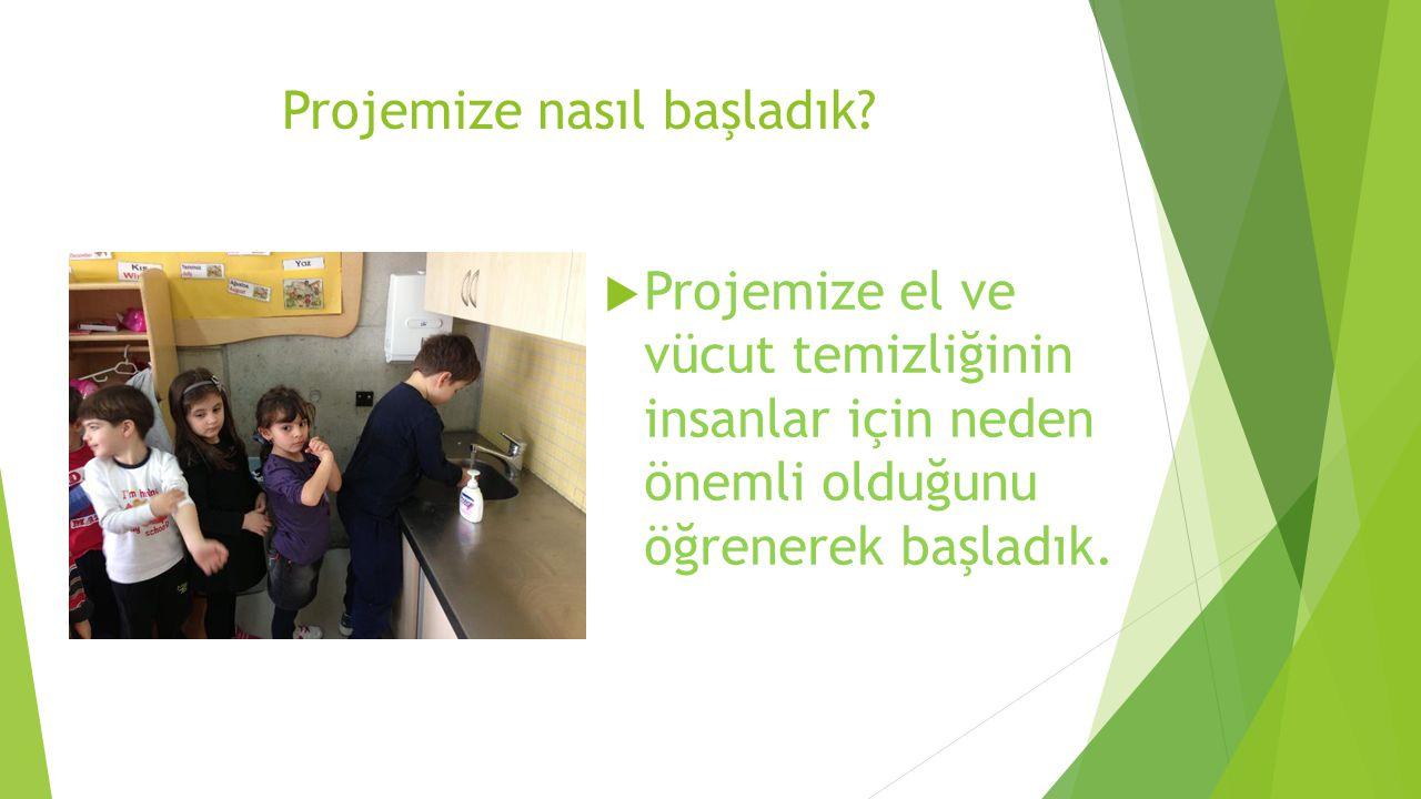 Projemize nasıl başladık?  Projemize el ve vücut temizliğinin insanlar için neden önemli olduğunu öğrenerek başladık.