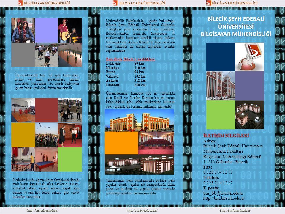 http://bm.bilecik.edu.tr/ Mühendislik Fakültesinin içinde bulunduğu Bilecik Şeyh Edebali Üniversitesi Gülümbe Yerleşkesi, şehir merkezine 3 km uzaklık